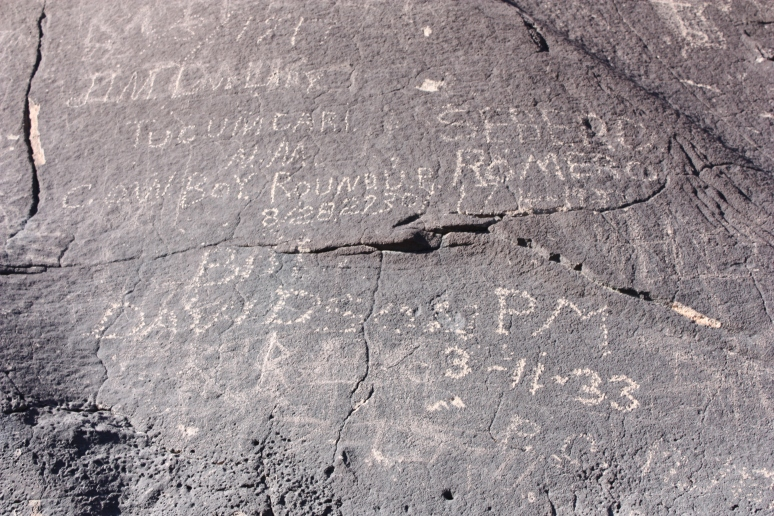 Graffiti from 1917 and 1933, among other dates.