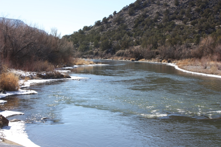 The Rio Grande, at the south end of the new Rio Grande del Norte National Monument.