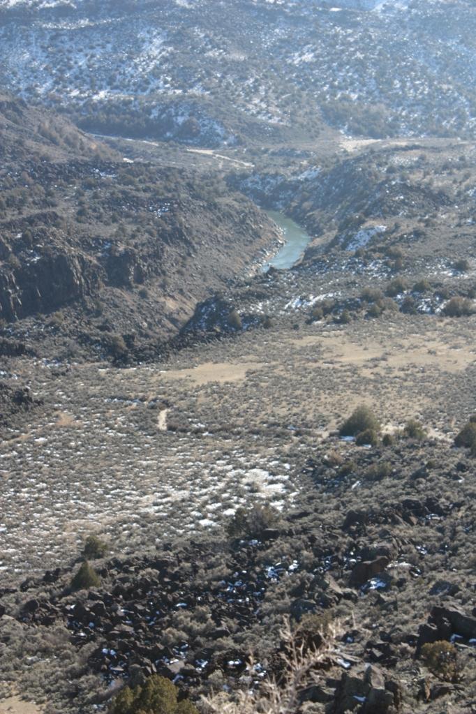 The Rio Grande, just above its confluence with Rio de Taos Pueblo