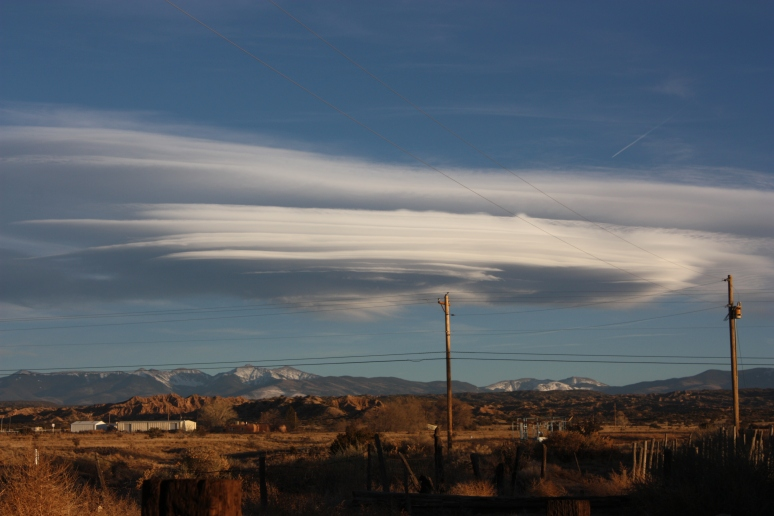 It is an interesting cloud near the juncture of the mountains and the Great Plains just beyond.