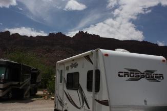 Campsite in Moab, Utah